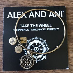 "Alex And Ani ""Take the Wheel"" Charm Bangle"
